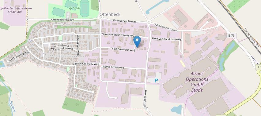 So finden Sie uns im Stadteil Ottenbeck/Stade Carl-Goerdeler-Weg 6 21684 Stade
